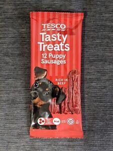Tesco Tasty Treats 12 Puppy Sausages / Rich in Beef / 30g