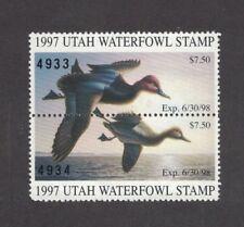 UT12 - Utah State Duck Stamp. Pair. MNH. OG.
