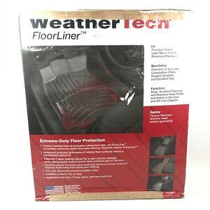 WeatherTech Floor Mats FloorLiner 1st Row 2 Piece BLACK 2015-2019 GMC Yukon NEW