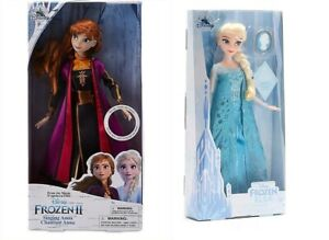 Disney - Anna singende Puppe + Elsa mit Anhänger Die Eiskönigin Frozen SET A