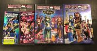 Monster High Lot Of 3 DVD Movies 13 Wishes, Double Feature, Scaris - Universal