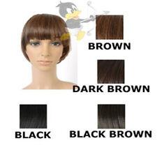 Perruques, extensions et matériel franges bruns raides pour femme