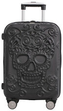 "IT Luggage Skulls 21"" Expandable Carry On Spinner Suitcase - Black"