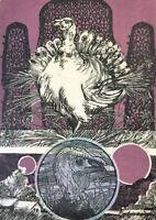 Cuban Art. Lithograph by Luis Cabrera. Pavo 3, 1979. Original Art Signed.