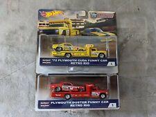 Hot Wheels Teams snake And mongoose 1/64 Plymouth Car haulers