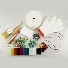 NEW 15 pc/Set Large Microwave Kiln Kit Glass Fusing DIY Craft Jewellery Art Tool