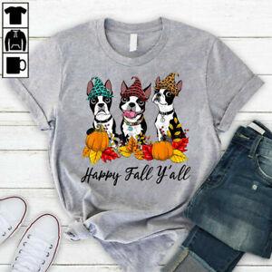 Boston Terrier Dog Lover Fall Ya'll Halloween Costume T-Shirt