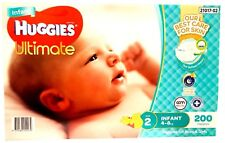 Range Huggies Ultimate Nappies Infant 200 Disposable Baby Boy Girl Nappy