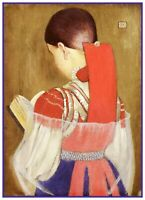 A Hungarian Girl in Sunday Best by Marianne Stokes Counted Cross Stitch Pattern