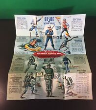 VINTAGE 1964 GI JOE - ACTION SOLDIER / MARINE / PILOT / SAILOR BROCHURE POSTER