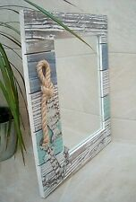 Seaside Nautical Wooden Shabby Mirror  NEW