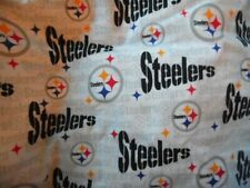 White Pittsburgh Steeler Fabric 1 Yard Cotton 58 Wide