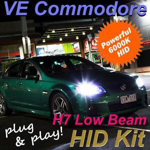 Holden VE Commodore Low Beam Headlight HID Kit H7 6000K SS SSV series 1 & 2 HSV