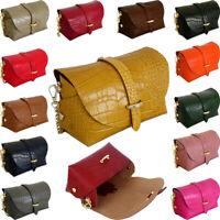 Vera Pelle Snakeskin Cross Body Bag Small Over Shoulder Genuine Italian Leather