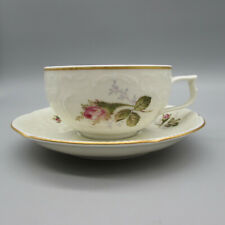 SET OF TWO - Rosenthal Sanssouci Moss Rose Ivory Cup & Saucer Sets