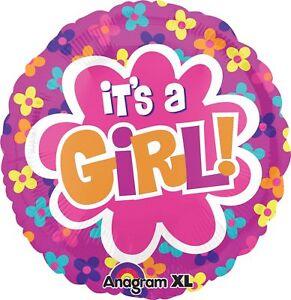 "It's A Girl Floral Mylar Balloon, 21"", Multicolor"