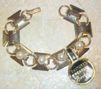Super Nice Vintage Cultured Pearl Bracelet By Brookcraft