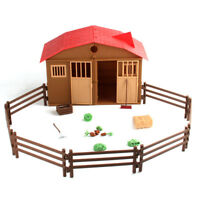 10pcs Farm Animals Fence Toys Military Fence Simulation Model Toy for ChildrCMU
