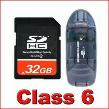 *32GB SD HC 32 GB Class 6 Secure Digital Memory Card