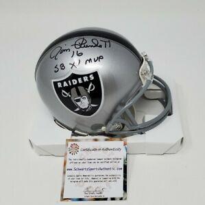 Jim Plunkett Signed Autographed Raiders Mini Helmet SB XV MVP Auto