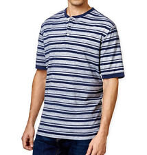 New Mens Weatherproof Vintage New Blue Stripe Henley T Shirt  S