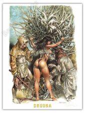 Affiche Serpieri Druuna Creatura signée 30x40 cm