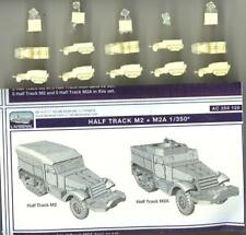 L'Arsenal Models 1/350 M2 and M2A HALF TRACKS (10) Resin Set