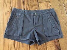 "Converse One Star 3"" Shorts Steel Gray Linen Blend Size 6 NWOT"