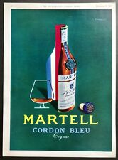 MARTELL Cordon Bleu Cognac - Vintage Colour Magazine Advert (7 Dec 1963)*