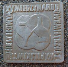 XXX PRL WARSZAWA 1974 PZTS, Table tennis Poland, vintage medal, plaque !