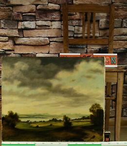 Hermann Gradl 1883-1964 Ölgemälde antik wohl Starnberger See Landschaft  Wolken