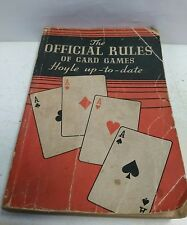 the official rules of card games Holly up-to-date book