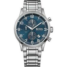 Hugo Boss Mens Aeroliner Stainless Steel Chronograph Watch 1513183