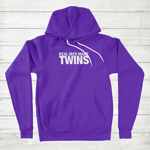 Real Men Make Twins Hoodie Sweatshirt Gift New Dad Dad Life Daddy Papa