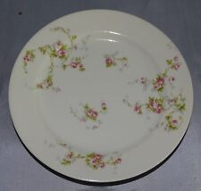 """M. Redon P L Limoges France Bread Plate 6 1/4"""" Pink Roses"""
