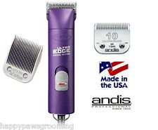 ANDIS UltraEdge SUPER Duty CLIPPER&UltraEdge 3/4HT&10 Blade SET PET DOG Grooming