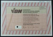 1 Papier: 20 Aktien über 50 DM: Vereinigte Deutsche Nickel-Werke AG. 1992.