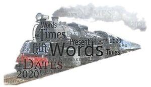 word art picture personalised gift present keepsake steam train