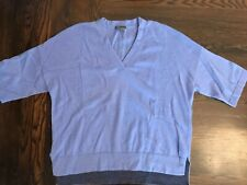 Vince Purple SS Short Sleeve Cashmere Sweater S Small