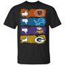 Chicago Bears Minnesota Vikings Detroit Lions And Green Bay Packers T-Shirt S...