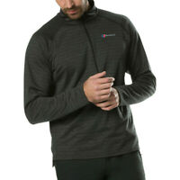 Berghaus Mens Thermal Tech Tee Long Sleeve Half Zip Baselayer Grey Sports