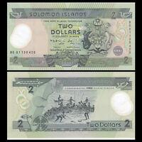 Solomon Islands 2 Dollars Banknote, ND(2001), P-23, Polymer, UNC>COMM.