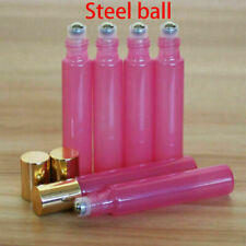 5pcs Steel Roll On Bottles Empty Glass Essential Oil Perfume Roller Ball Bottle