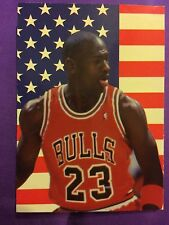 Michael Jordan, Dream Team USA With US Flag In Background