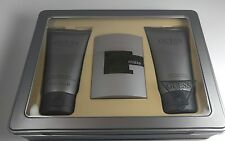 Guess Suede Gift Set for Men 2.5 oz EDT+ Body Wash + Aftershave Balm 5 oz NEW