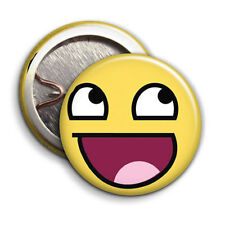 Awesome Smiley Face - Button Badge - 25mm 1 inch