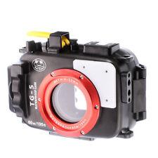 195FT/60M Waterproof Underwater Housing Case Bag For Olympus TG5 TG-5 Black