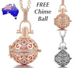 Crystal Angel Caller Gold/ Silver Harmony Chime Ball Baby Bola Locket Necklace