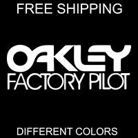 OAKLEY FACTORY PILOT vinyl sticker decal snowboarding skateboarding sports