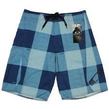 Oakley Bunker 2.0 White Blue 36 XL Mens Casual Boardies Shorts Walkshorts